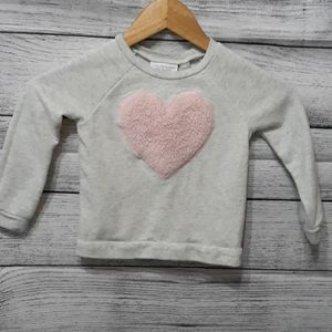 ♥️ Childrens Place Girls Heart Sweater Size 3T